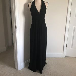 Express black halter maxi dress